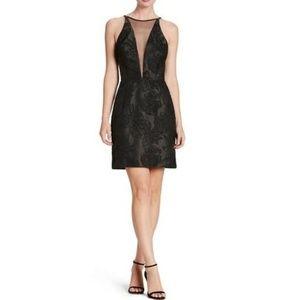 Dress the Population Kennedy Plunge Mini Dress NEW